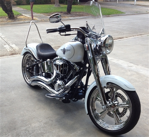 Custom Motorcycle Seat Harley Davidson Softail Fat Boy