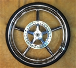 "26"" x 3.75"" Front Rocker and Rocker C Replica Billet Wheel"